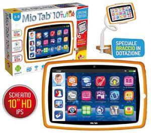 Lisciani Mio Tab Smart Kid Tutor Tablet 10 accessori